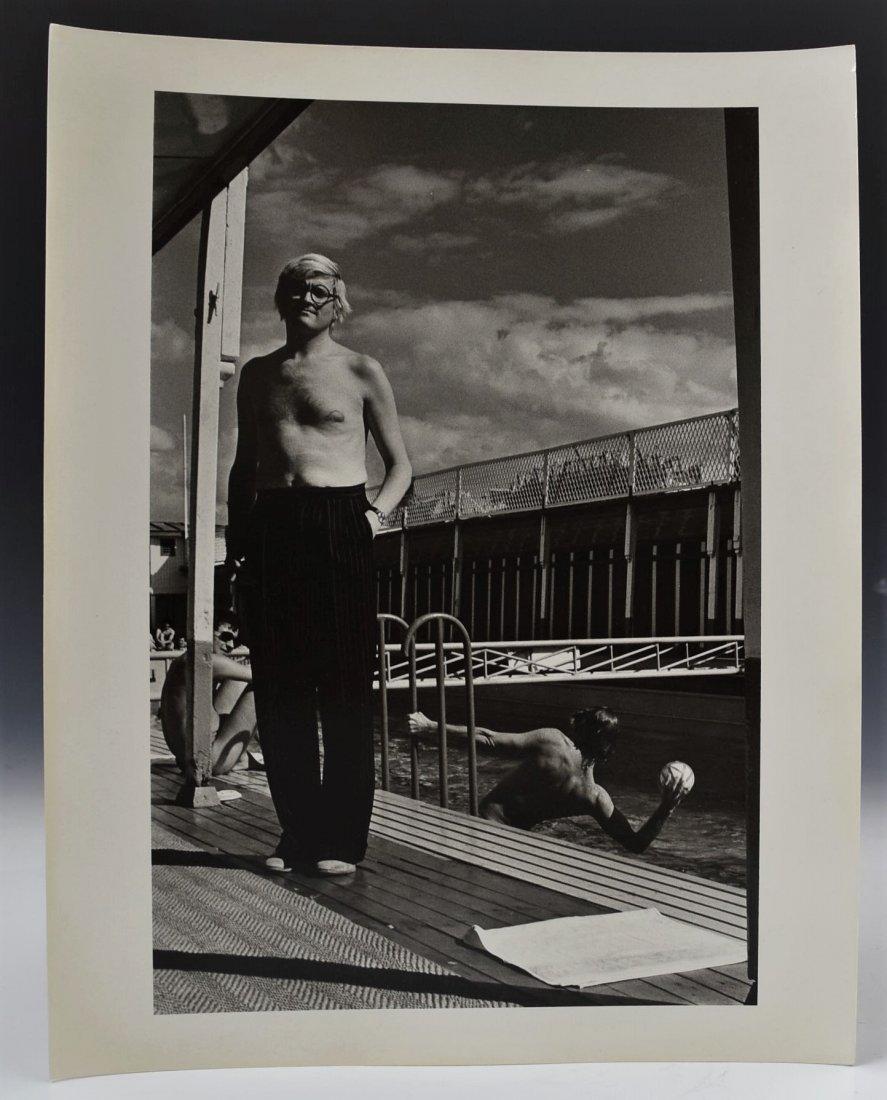 Helmut Newton Signed Photograph, David Hockney
