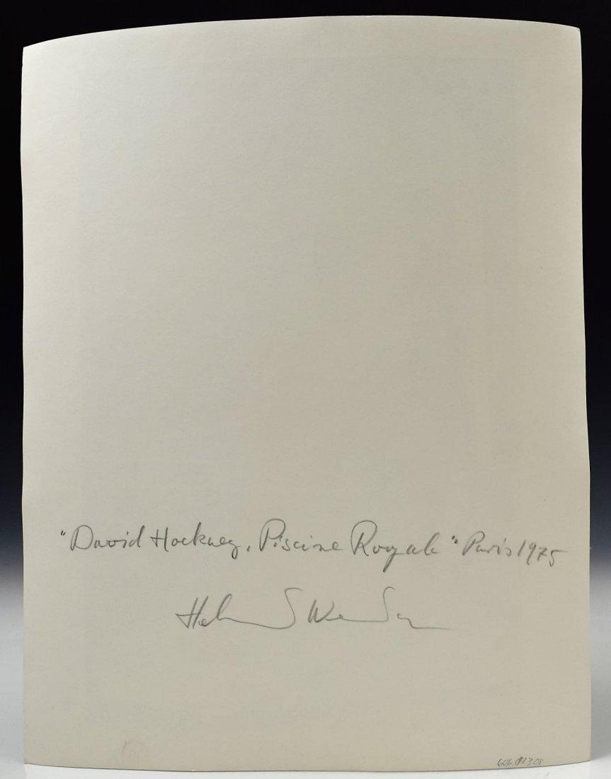 Helmut Newton Signed Photograph, David Hockney - 2