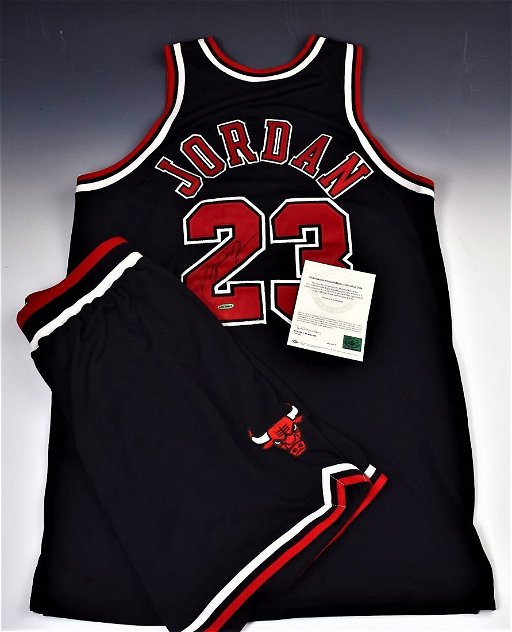 info for b4944 49cbe Michael Jordan Game Worn Signed Jersey, Shorts