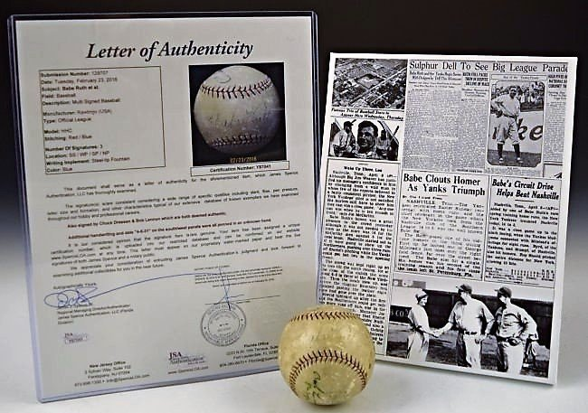 Babe Ruth Signed Home Run Baseball