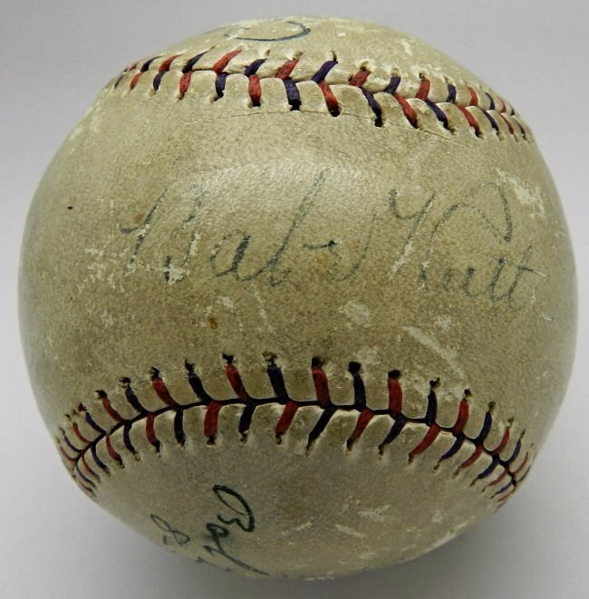 Babe Ruth Signed Home Run Baseball - 3
