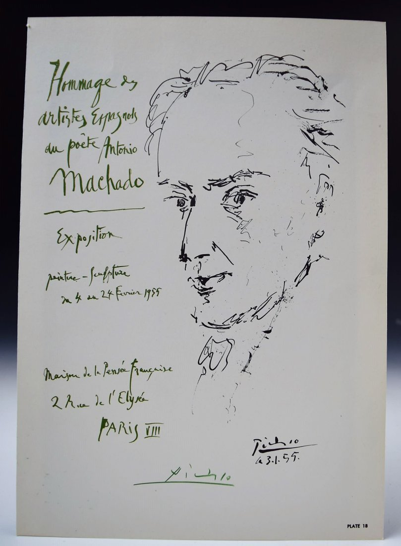 Pablo Picasso Signed Bookplate