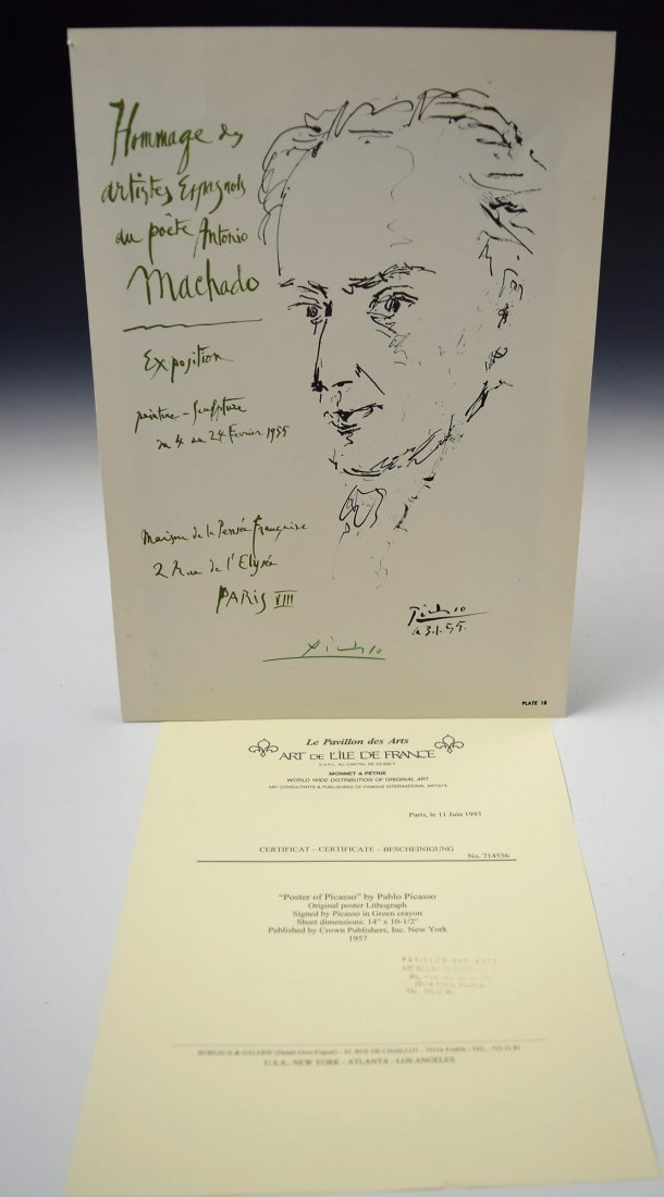 Pablo Picasso Signed Bookplate - 3