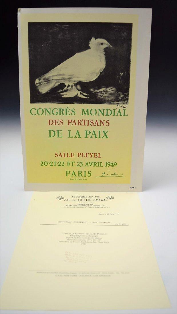 Pablo Picasso Signed Bookplate - 3