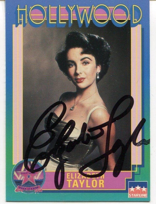 Elizabeth Taylor Autograph