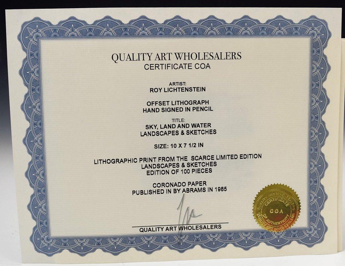 Roy Lichtenstein Signed Print - 5