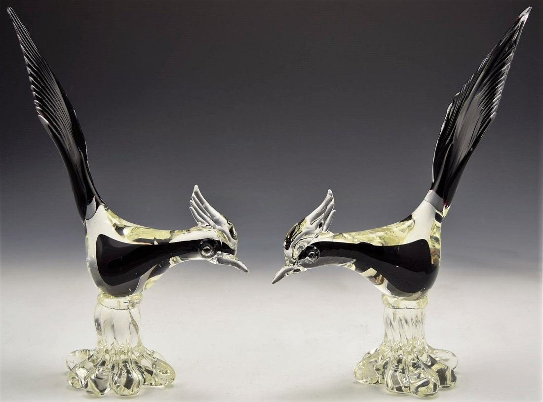 Murano Art Glass Bird Grouping