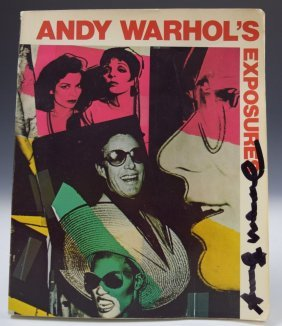 Andy Warhol Exposures Signed Book