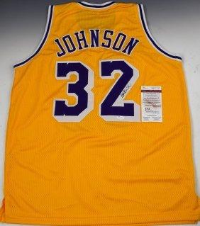 Magic Johnson Signed Jersey