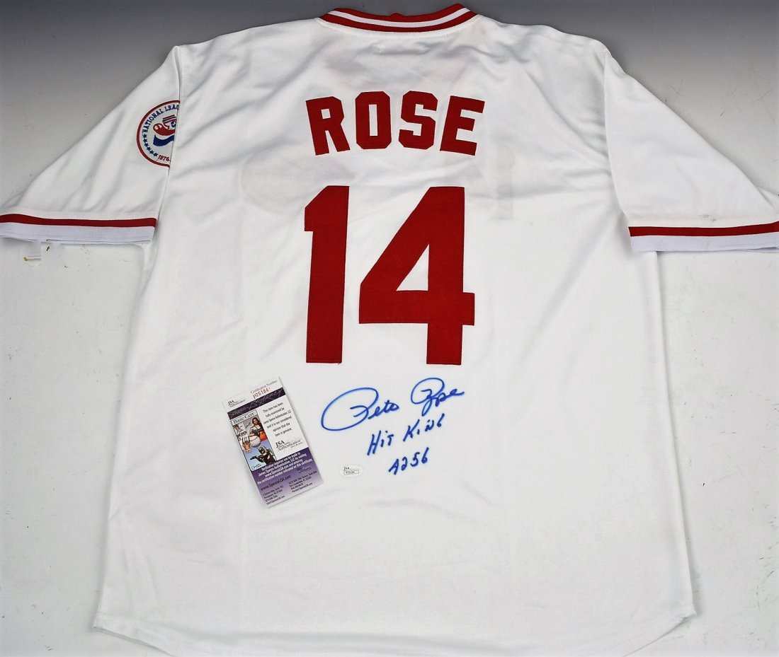 Pete Rose Signed Jersey