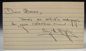 Guy Wiggins Artist Autograph