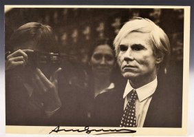 Andy Warhol Signed Postcard