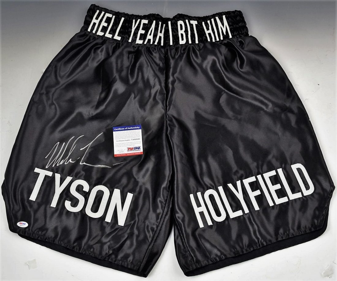 Mike Tyson Signed Boxing Trunks