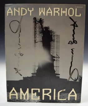 Andy Warhol Signed Book Cover