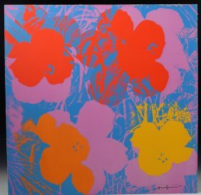 Andy Warhol Signed Flowers