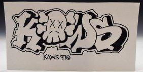 After KAWS Drawing