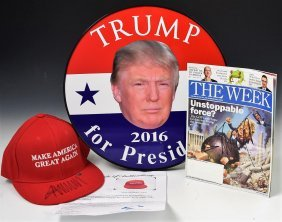 Grouping of Donald Trump Signed Items
