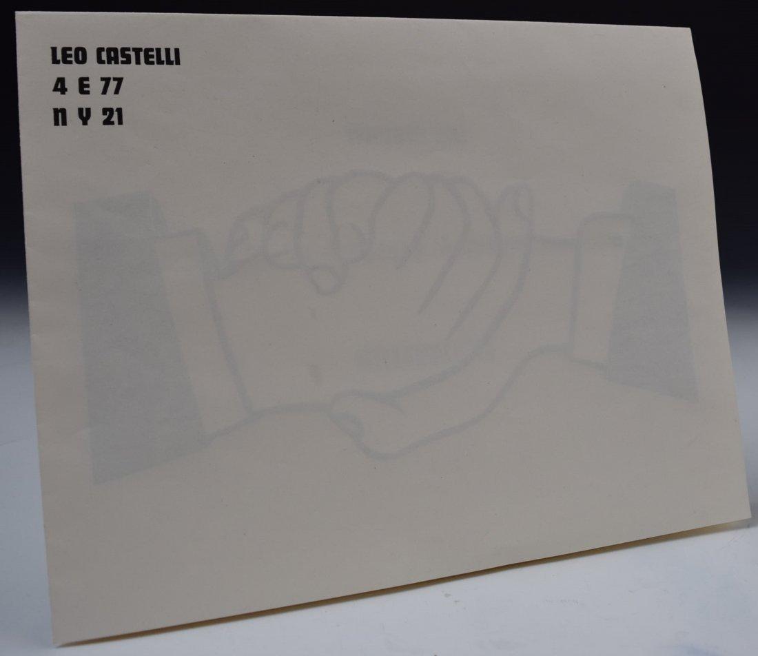 Roy Lichtenstein Handshake Signed Mailer