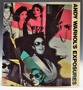 Andy Warhol Exposures Signed Book Cover