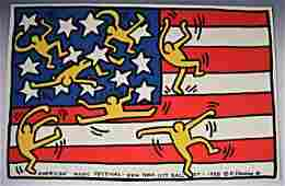 Keith Haring Signed and Dated