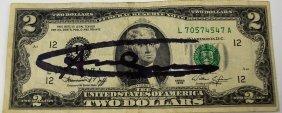Andy Warhol Signed Dollar