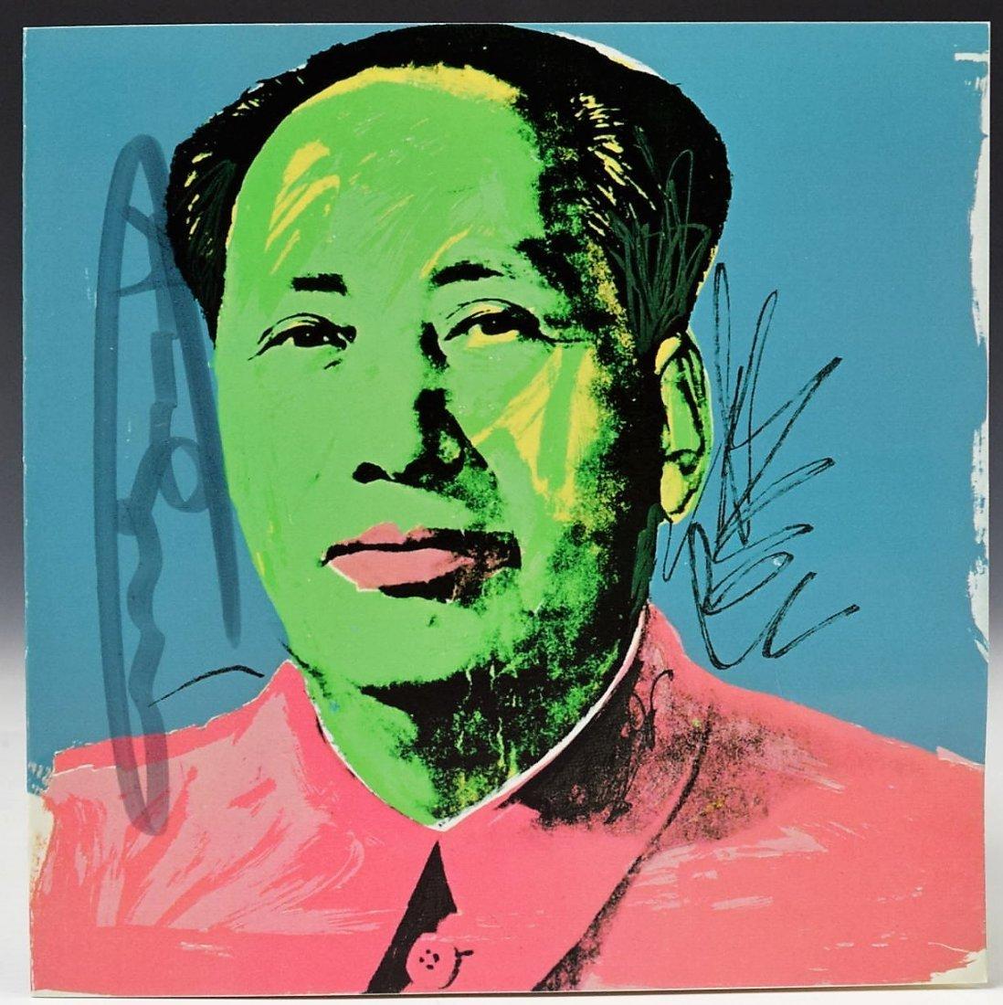 Andy Warhol Mao Invitation Card Signed