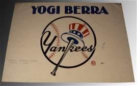 Yogi Berra Signed Poster