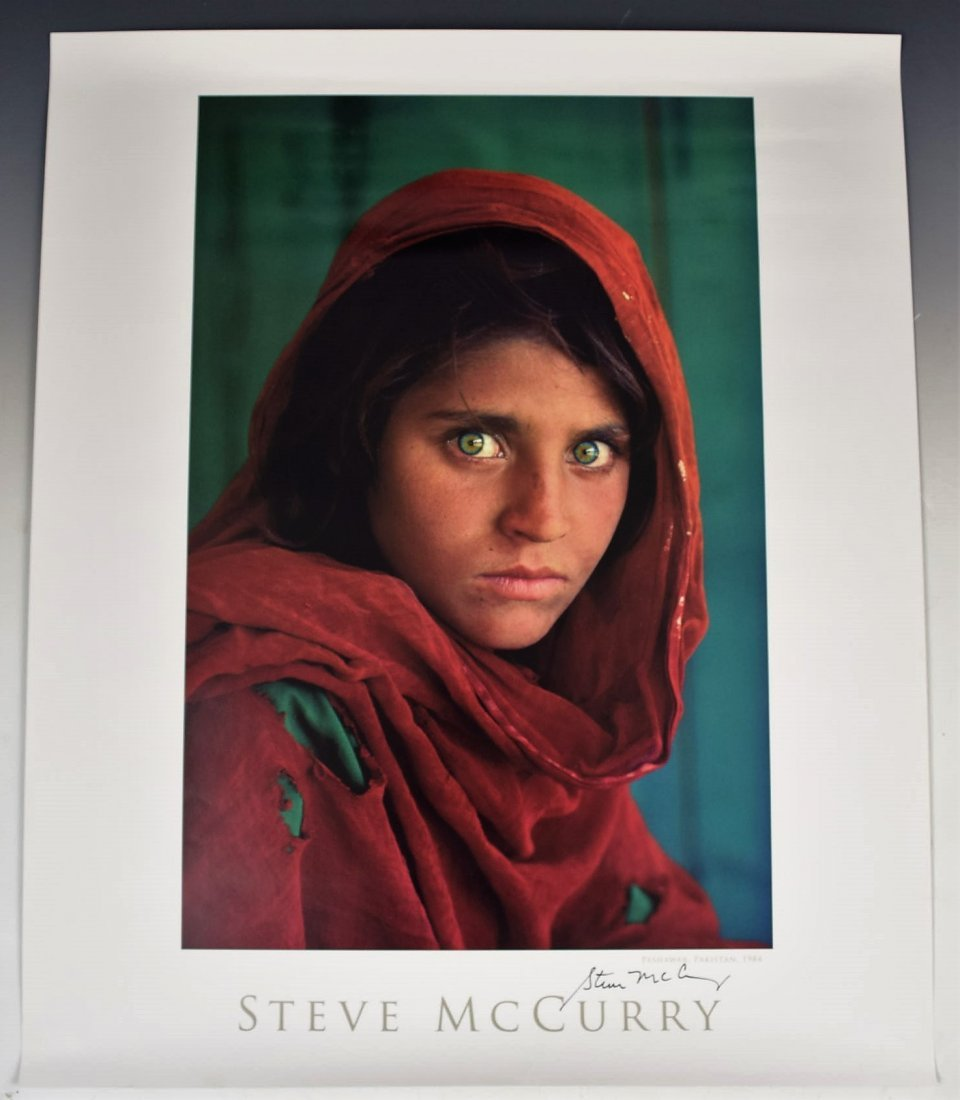 Steve McCurry Signed Poster