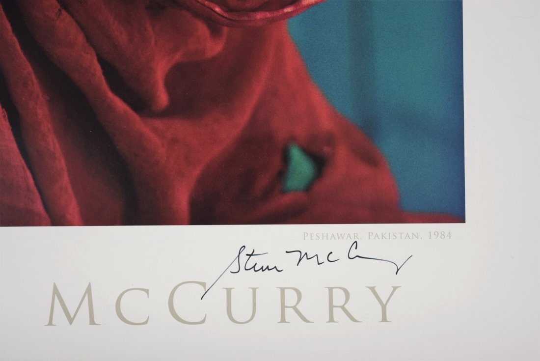Steve McCurry Signed Poster - 3