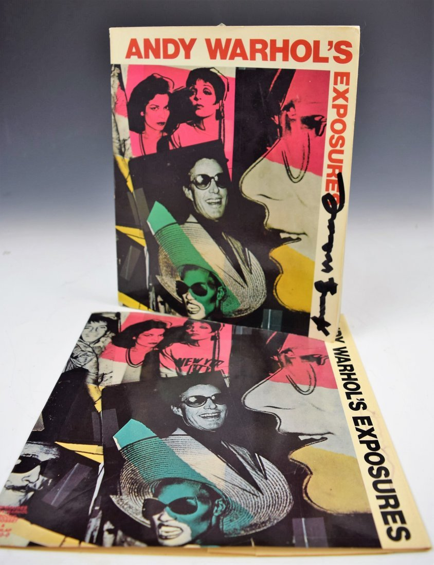 Andy Warhol Exposures Signed Book and Book Cover