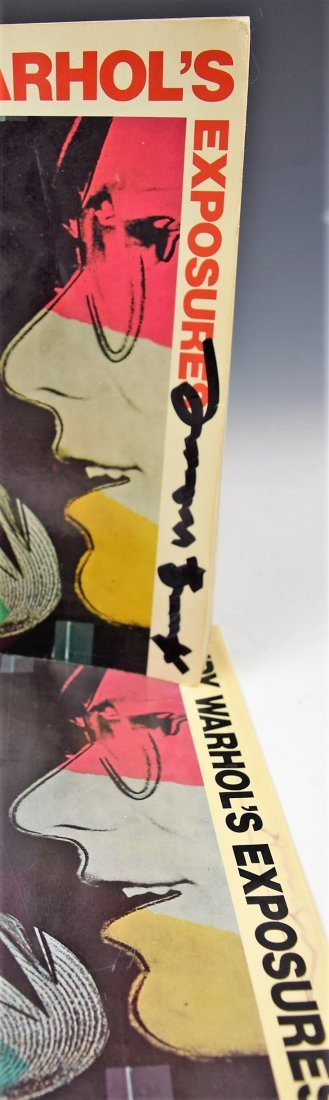 Andy Warhol Exposures Signed Book and Book Cover - 2