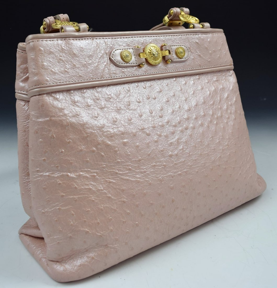 Vintage Gianni Versace Ostrich Bag