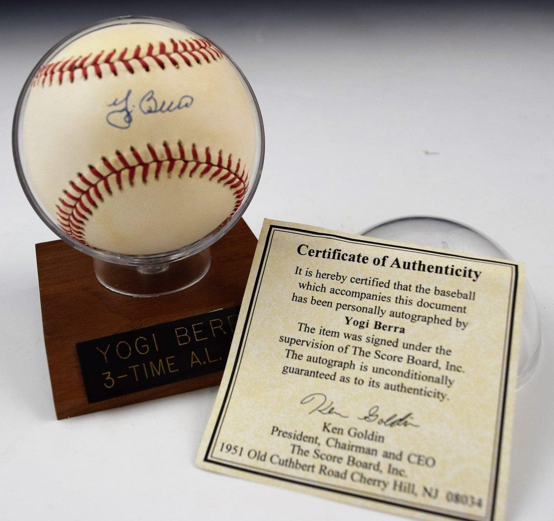 Yogi Berra Signed Baseball