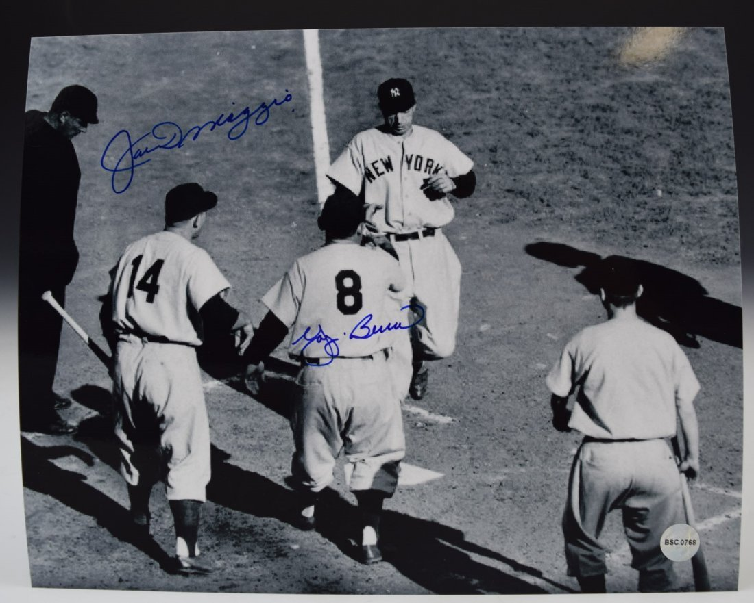 Joe DiMaggio, Yogi Berra Signed Photo