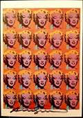 Andy Warhol Marilyn Signed Postcard
