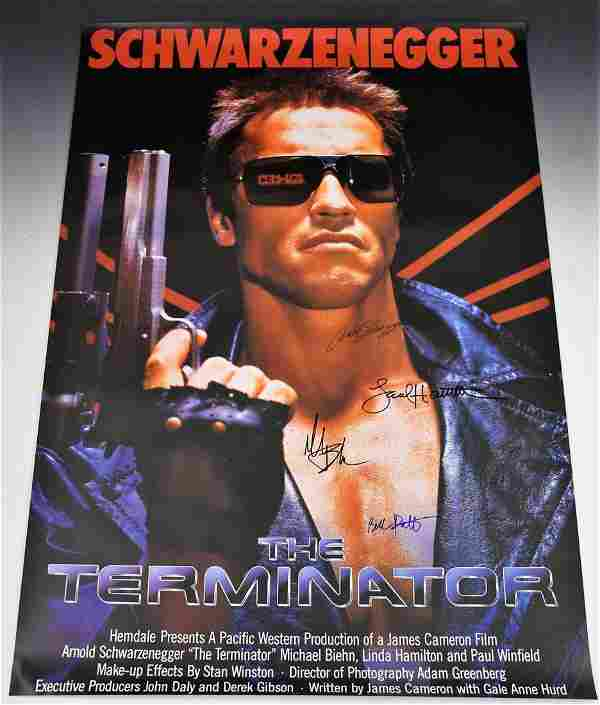 The Terminator Cast Signed Movie Poster