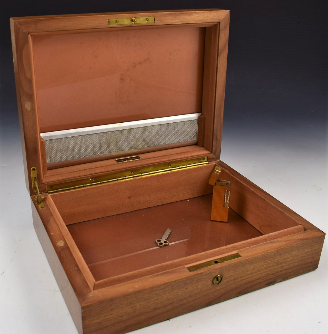 Dunhill Wooden Humidor and Lighter