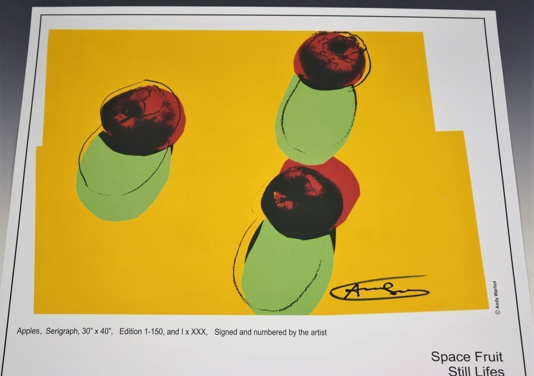 Andy Warhol Signed Apples Poster - 2