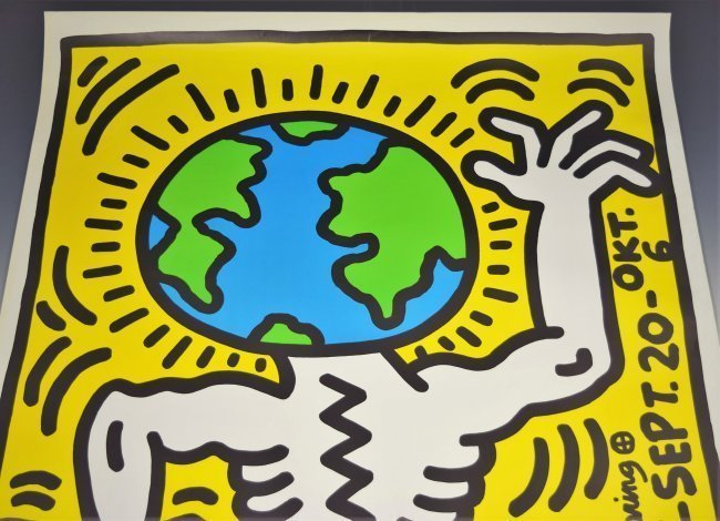 Keith Haring Signed Poster - 2