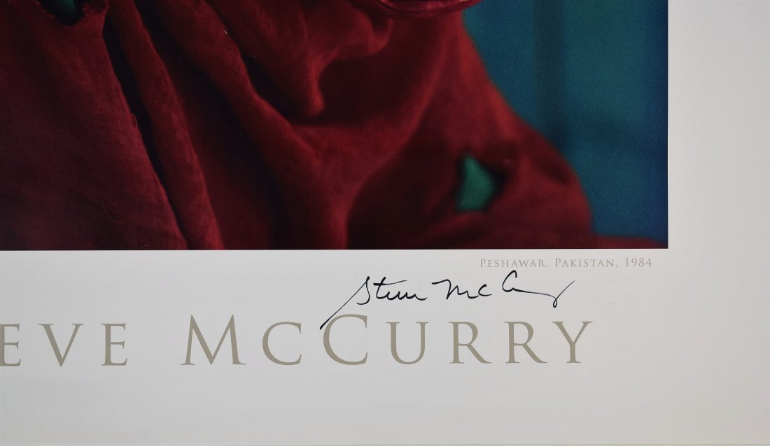 Steve McCurry Signed Poster - 2