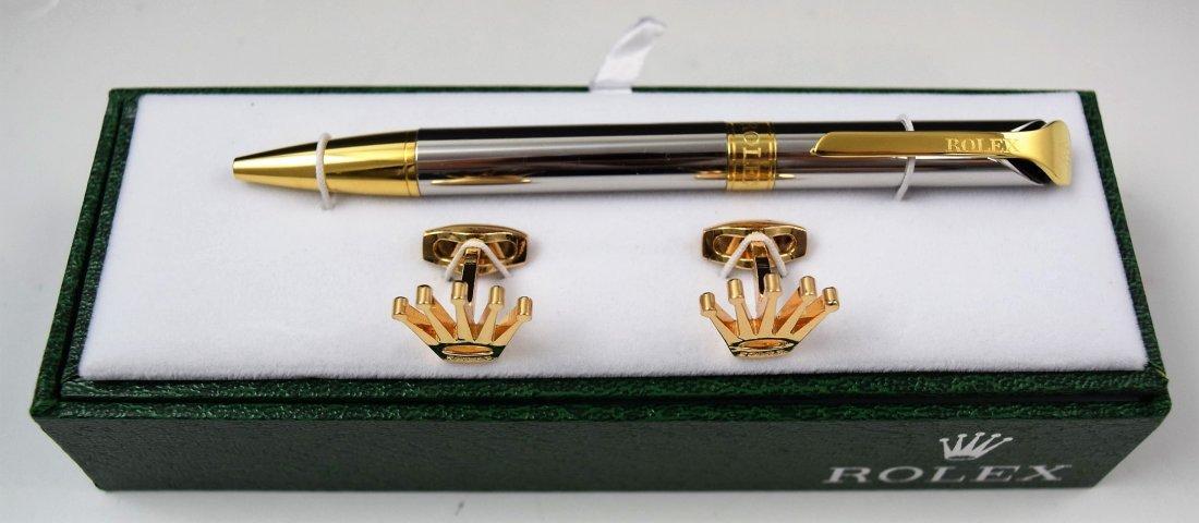Rolex Cufflinks and Pen Set - 2