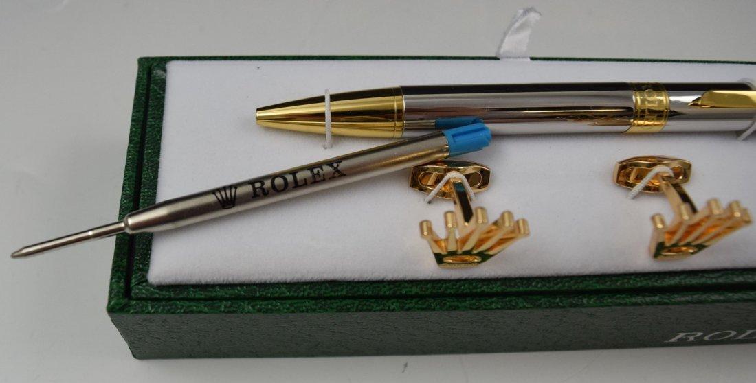 Rolex Cufflinks and Pen Set - 4