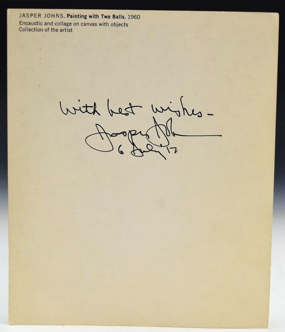 Jasper Johns Signed - 2