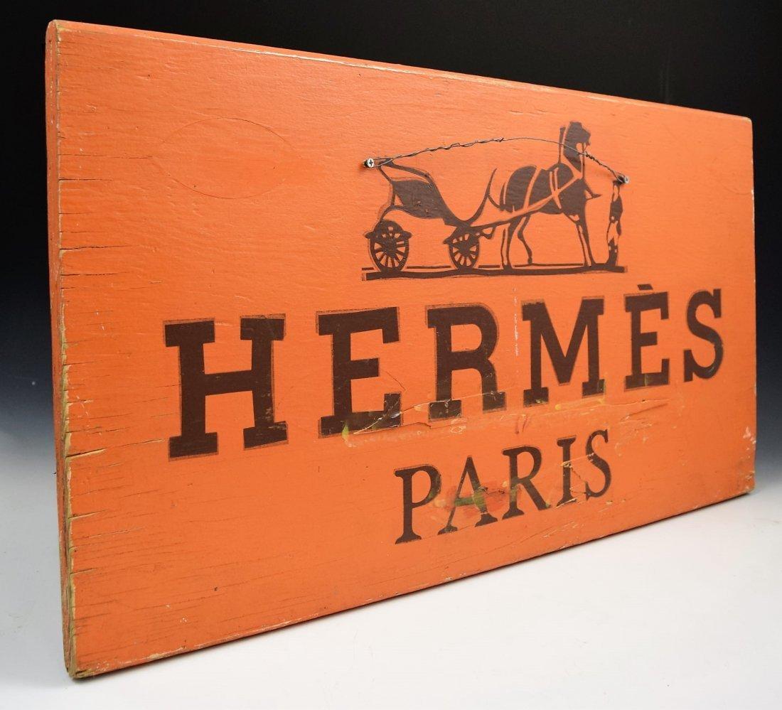 Vintage Hermes Wooden Sign
