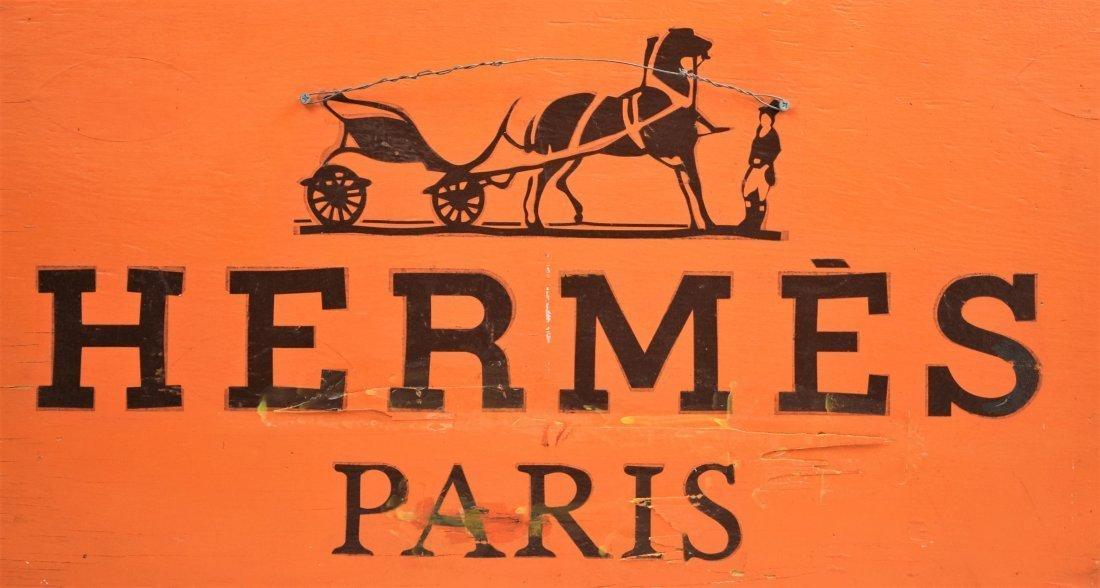 Vintage Hermes Wooden Sign - 3