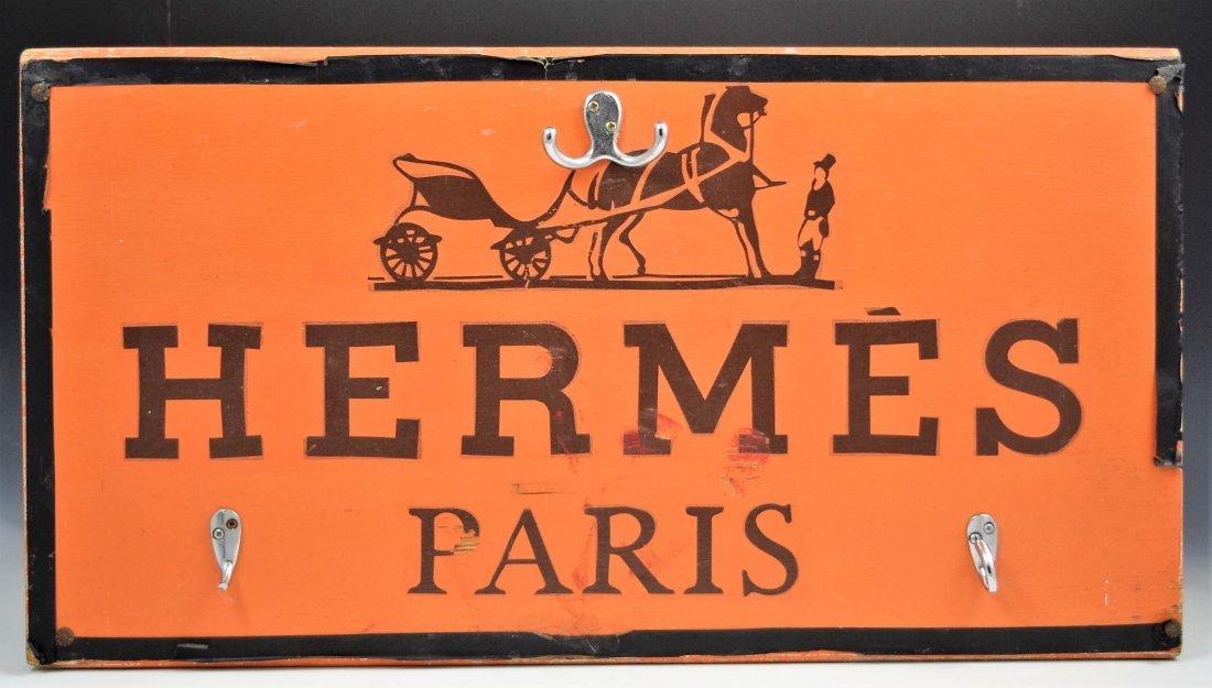 Vintage Hermes Wooden Sign - 4