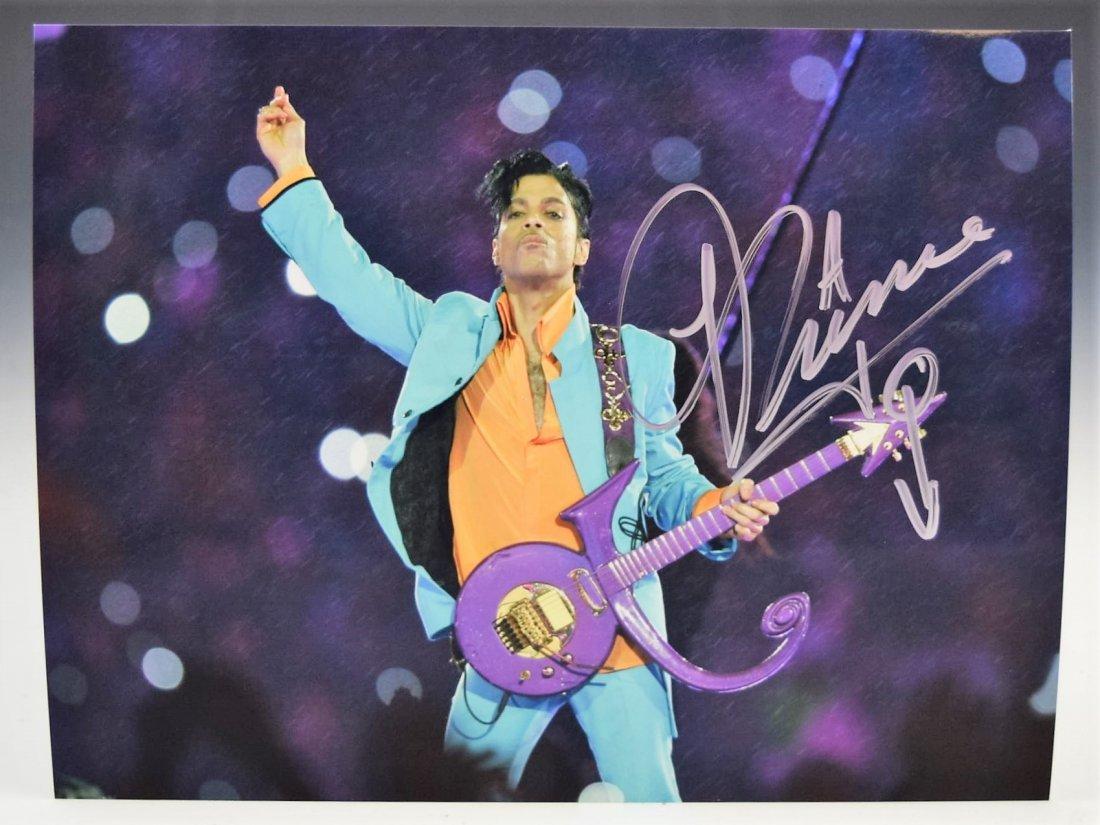 Prince Autograph Photo