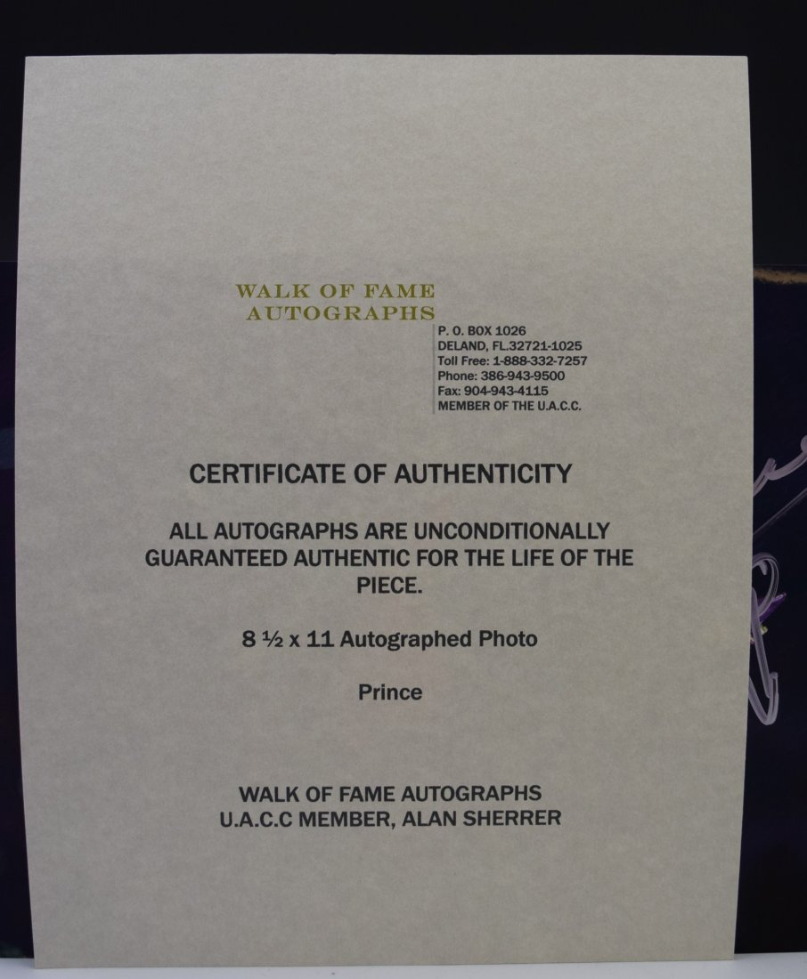 Prince Autograph Photo - 3