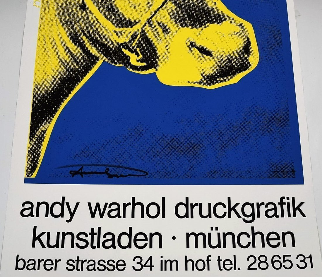 Andy Warhol Signed Cow Poster - 2