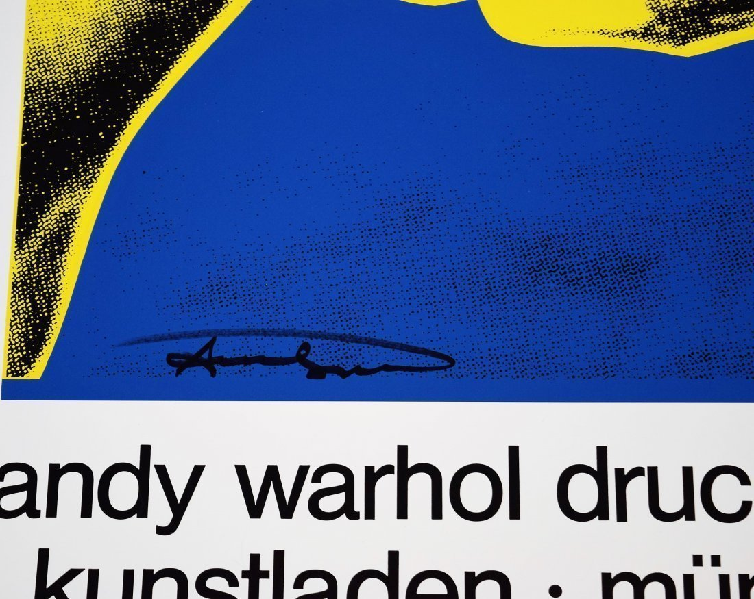 Andy Warhol Signed Cow Poster - 3